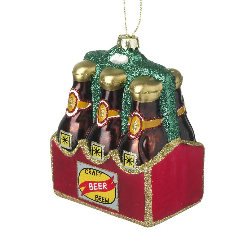 Glass Hanging Beer Decoration