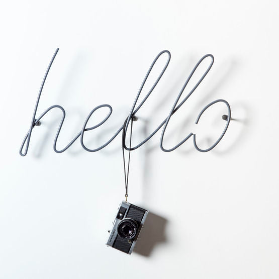 Hello - Coat Rack - Grey