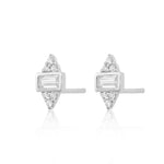 Audrey Stud Earrings - Silver