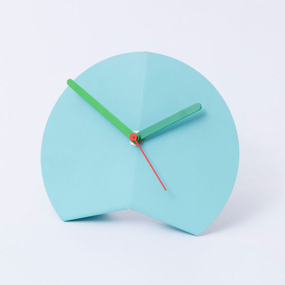 Origami Desk Clock - Blue
