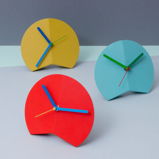Origami Desk Clock - Yellow
