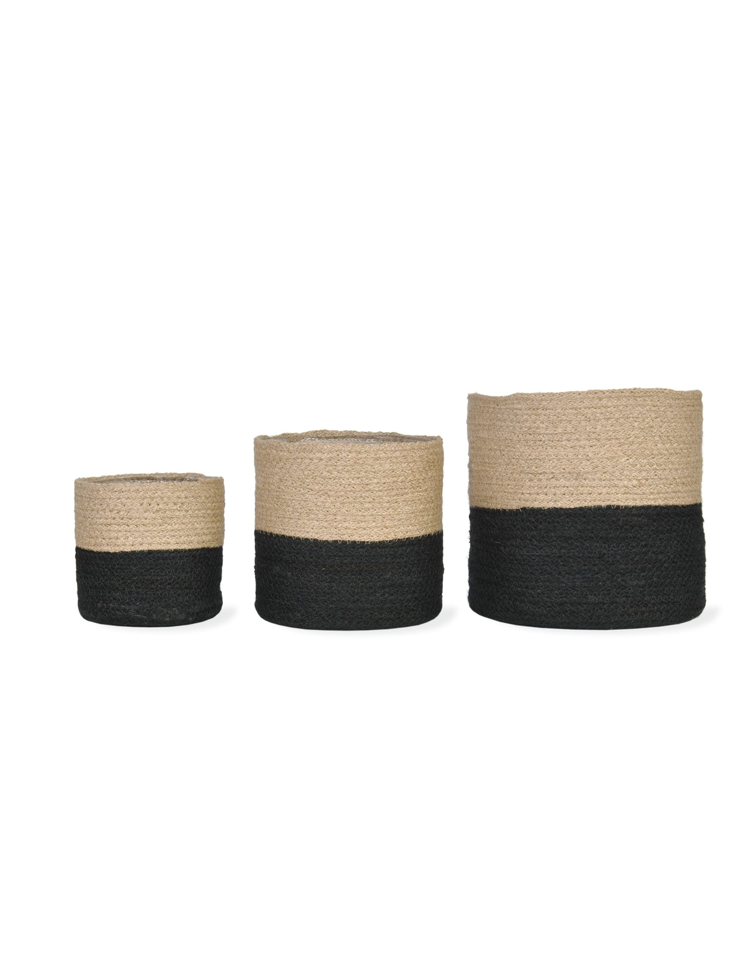 Jute Set of 3 Jute Pots
