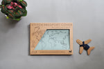 Stitch Leather Passport Cover - Mint