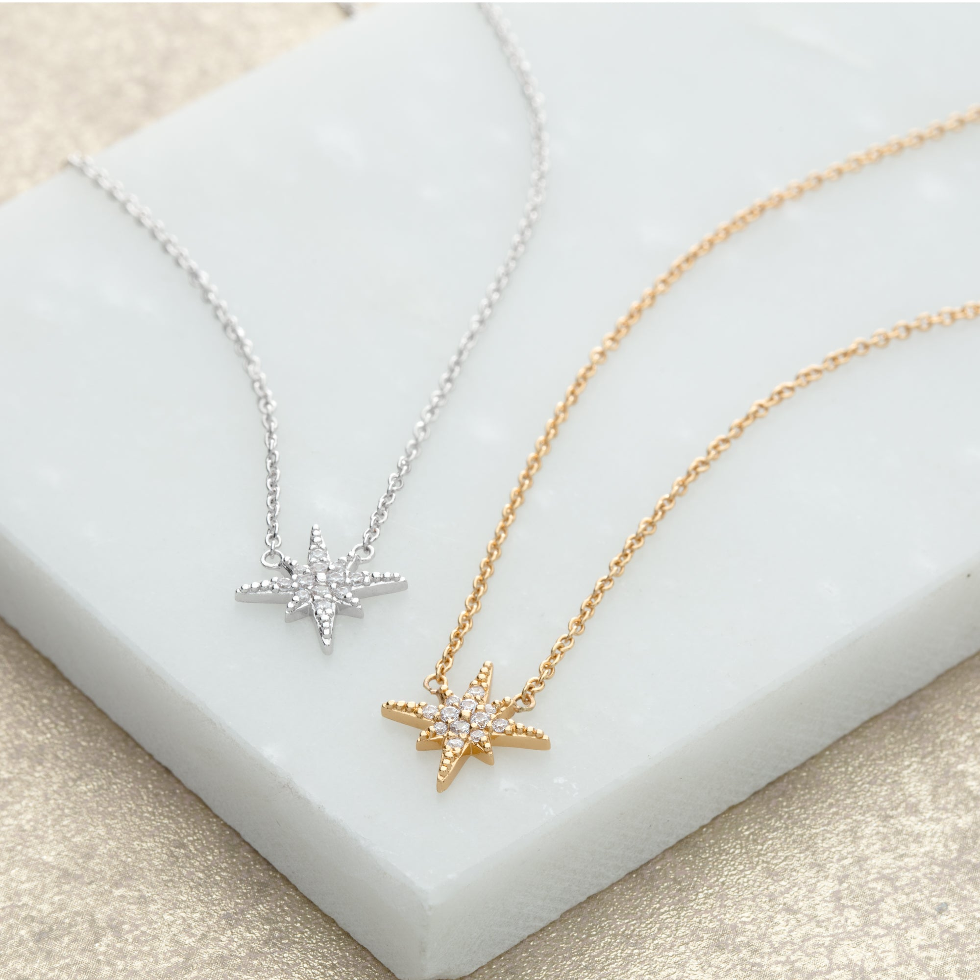 Starburst Necklace  - Gold Plated Brass