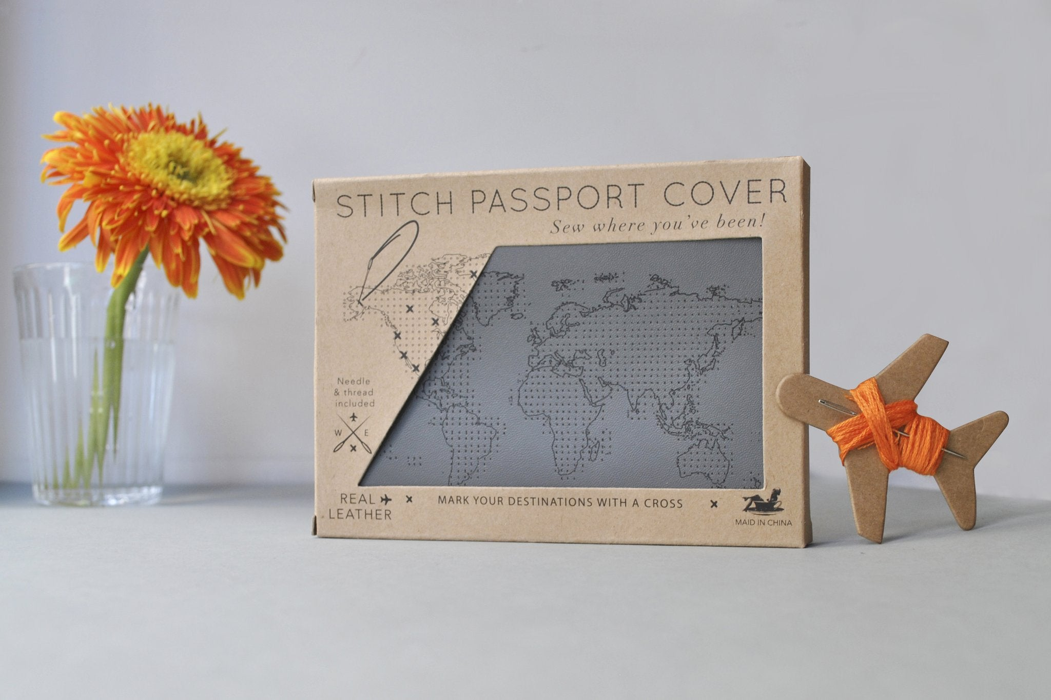 Stitch Passport Cover - Grey