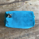 Turquoise Velvet Make Up Bag With BEE Pin