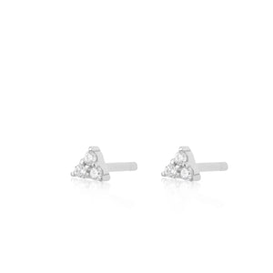 Teeny Audrey Stud Earrings - Silver