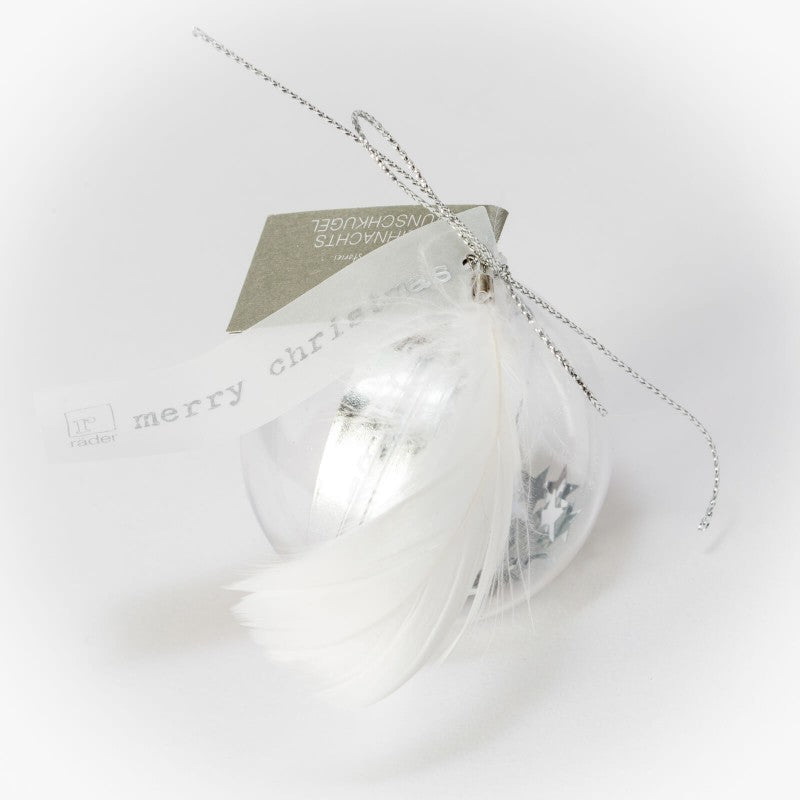 Christmas Wish Ball Decoration - Silver Ribbon