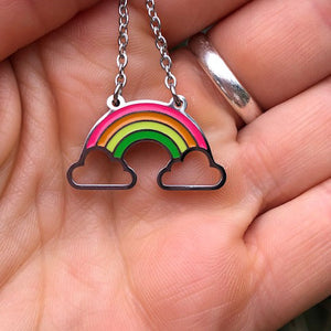 Rainbow and Cloud Pendant