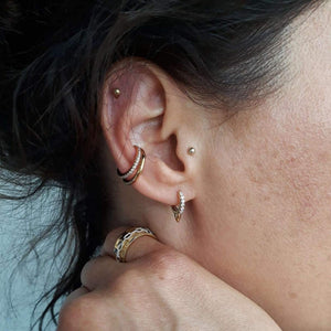 Gold Slim Sparkling Ear Cuff