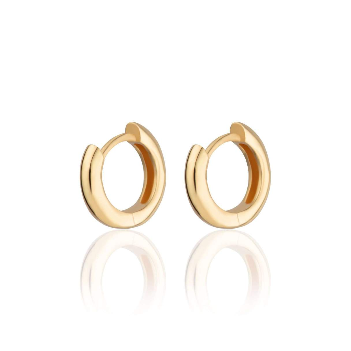 Huggie Hoop Earrings - Gold Plated
