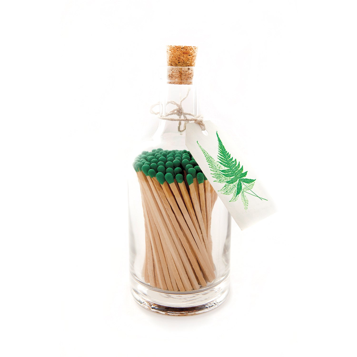 Luxury Glass Bottle With Long Matches - Fern