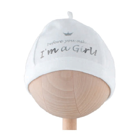"Baby Hat ""I'm A Girl"""