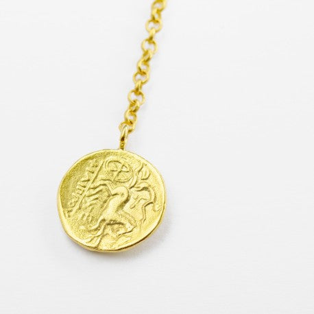 Gold Coin Lariar Style Necklace