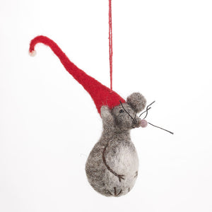 Christmas Little Fella Hanging Felt Decoration