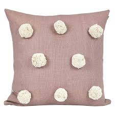 Pink Large Pom Pom Cushion