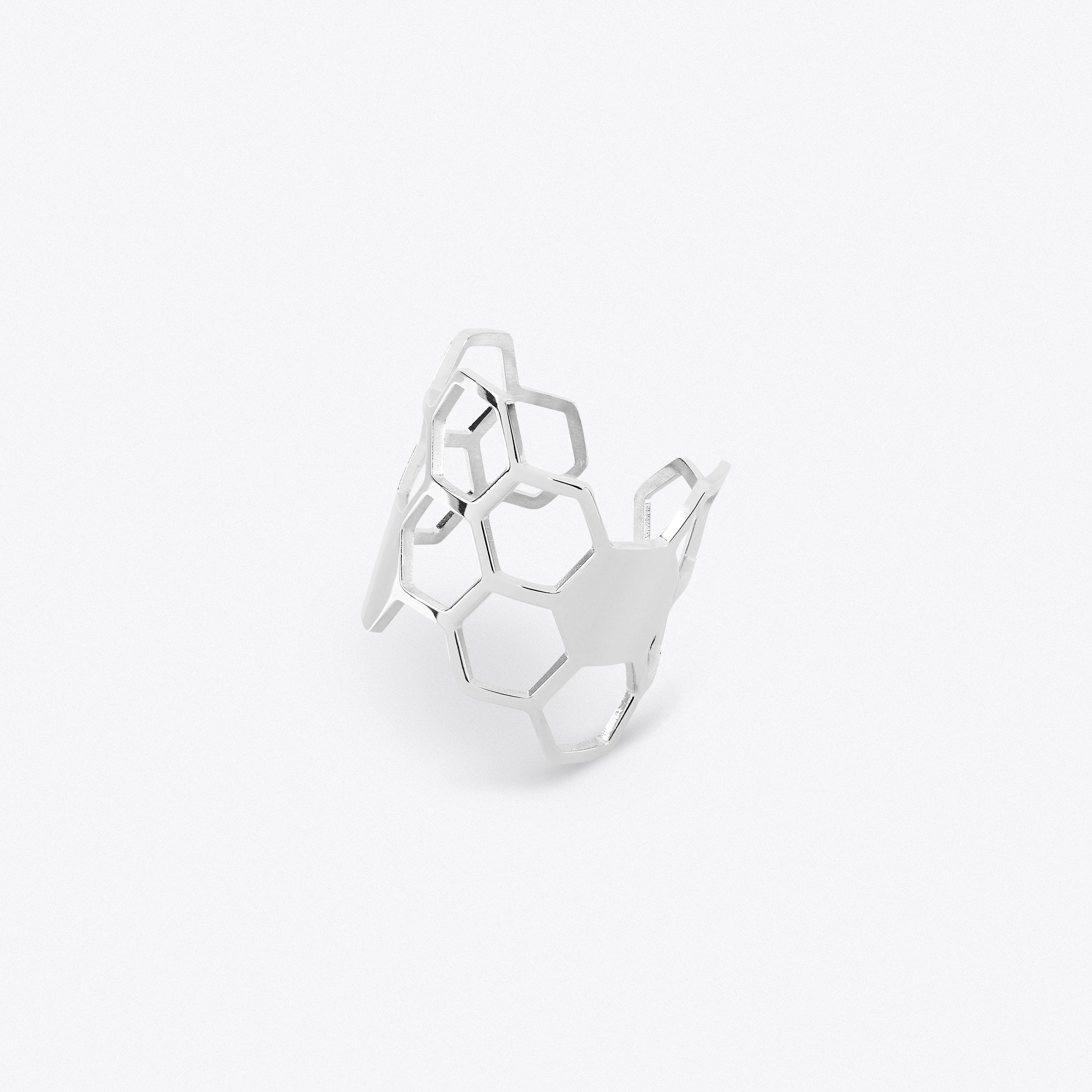 Honeycomb Ring - Steel
