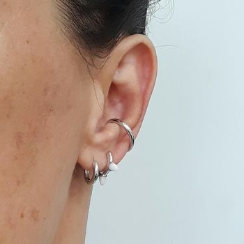 Scream Pretty Plain Sterling Silver Ear Cuff