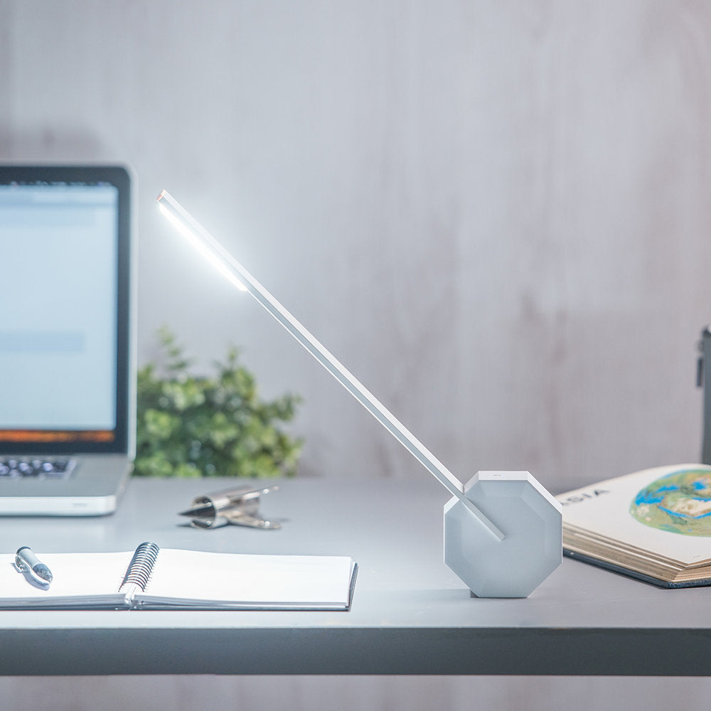 Octagon One Desk Lamp - White