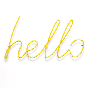 Hello - Coat Rack - Yellow