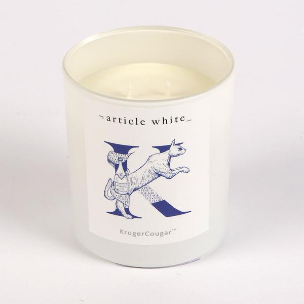 Article White KrugerCougar Candle