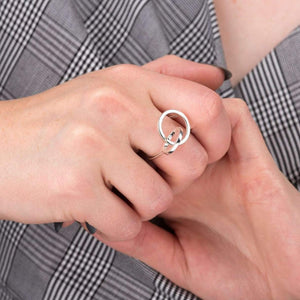 Silver Interlinked Circle Ring