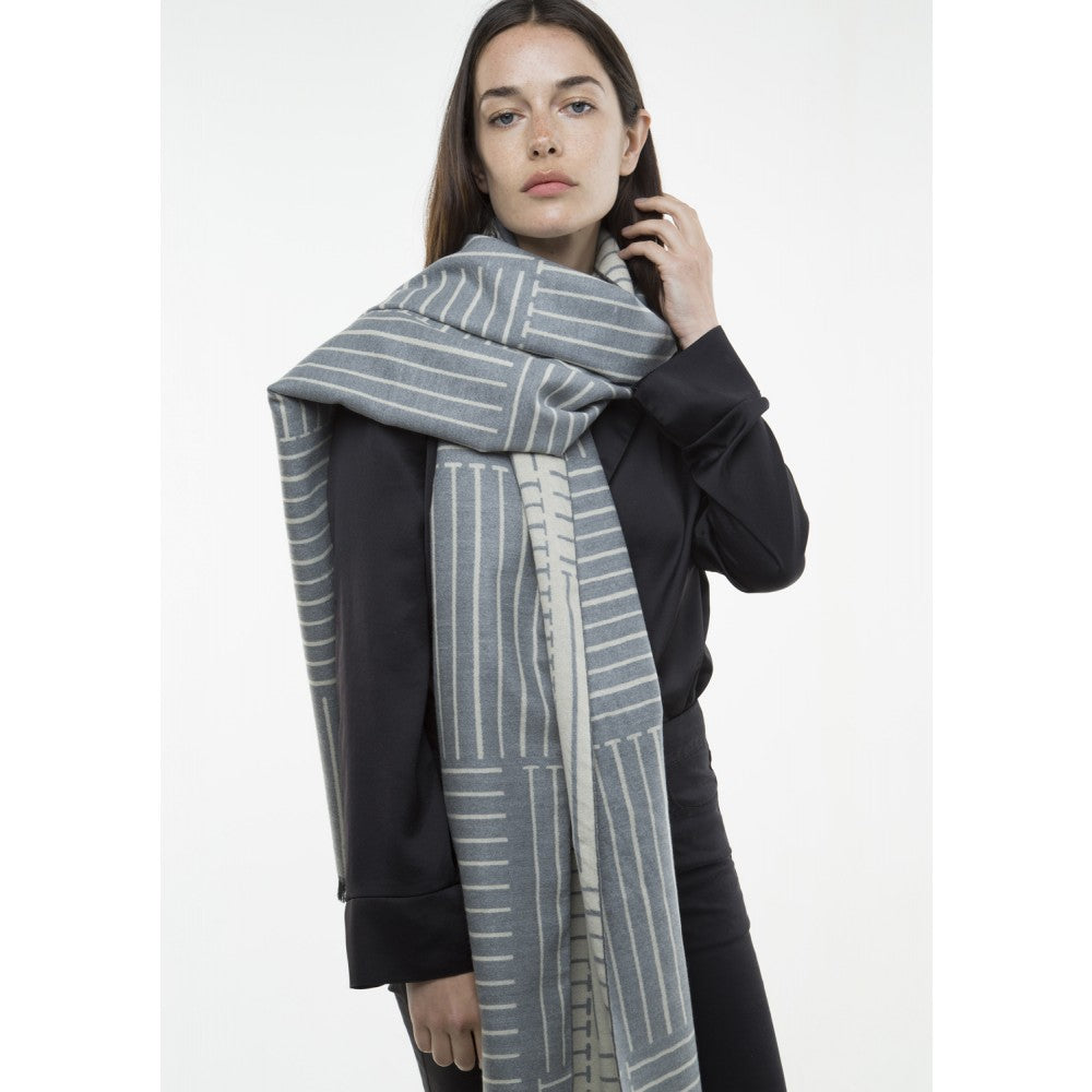 Abstract Scarf - Grey