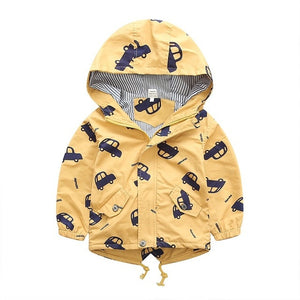 Car Print Winter Jacket