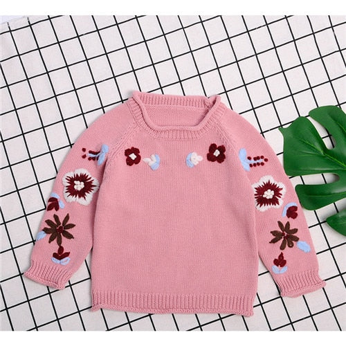 Floral Knitted Jumper