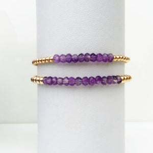 Amethyst Stackable Bracelets