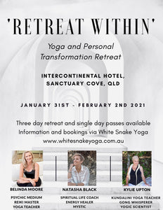 Retreat Within Airport Transfer Saturday 30th January