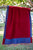 Yoga Blanket- Blue and Crimson Red
