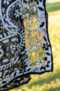 Embroidered Shawl Black