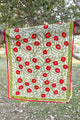 Delicate Embroidered Indian Shawl Red Poppies