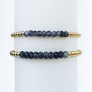 Iolite Stackable Bracelets
