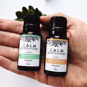 Calm Body & Home Organic Essential Oils Therapeutic Grade DUO