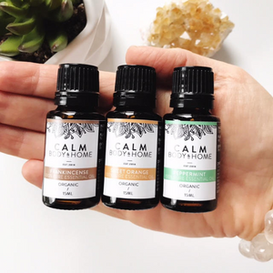 Calm Body & Home Trio Organic Essential Oils - Essentials Kit