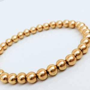 Yellow Gold Filled Stackable Bracelet 5mm