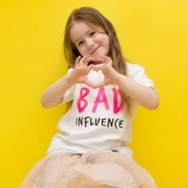 KIDULT & CO BAD INFLUENCE UNISEX TEE