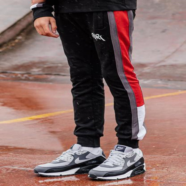 GDR FLINT BLACK/RED JOGGERS