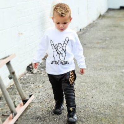 KIDULT & CO LONG SLEEVE LITTLE REBEL UNISEX TEE