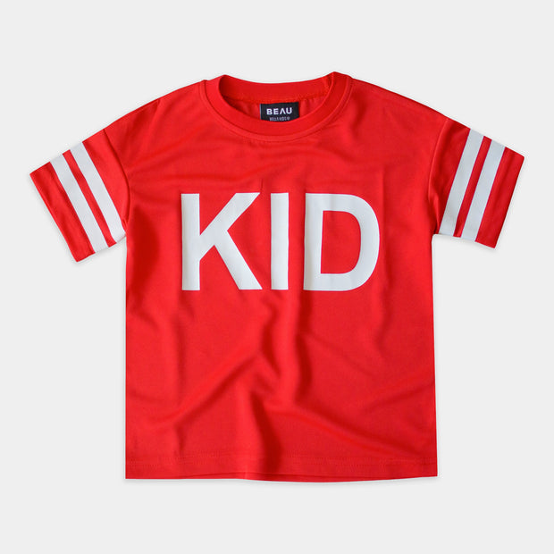 RED MESH TEE SHORT SLEEVE