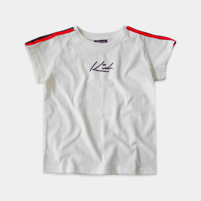 STRIPE SLEEVE TEE WHITE