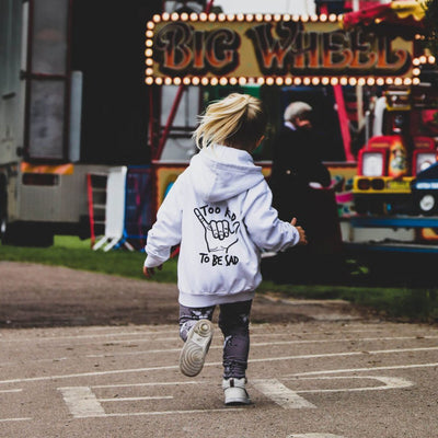 KIDULT & CO TOO RAD TO BE SAD UNISEX HOODIE