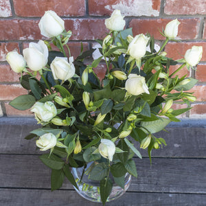 White Roses with Alstromeria