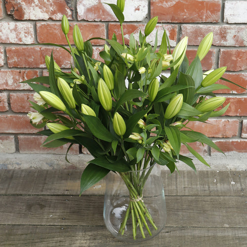 White Fragrant Lilies with Alstromeria