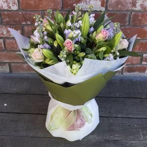 Elegant White and Green Posy