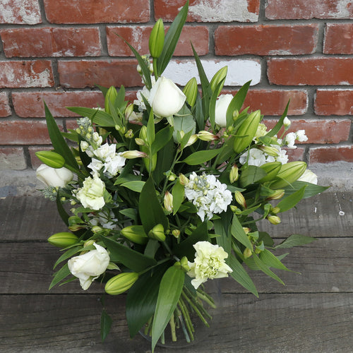 Elegant White and Green Bouquet