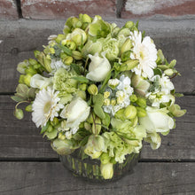 Load image into Gallery viewer, Elegant White and Green Posy