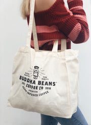 Buddha Beans® Reusable Canvas Tote Bag - Buddha Beans Coffee Co.